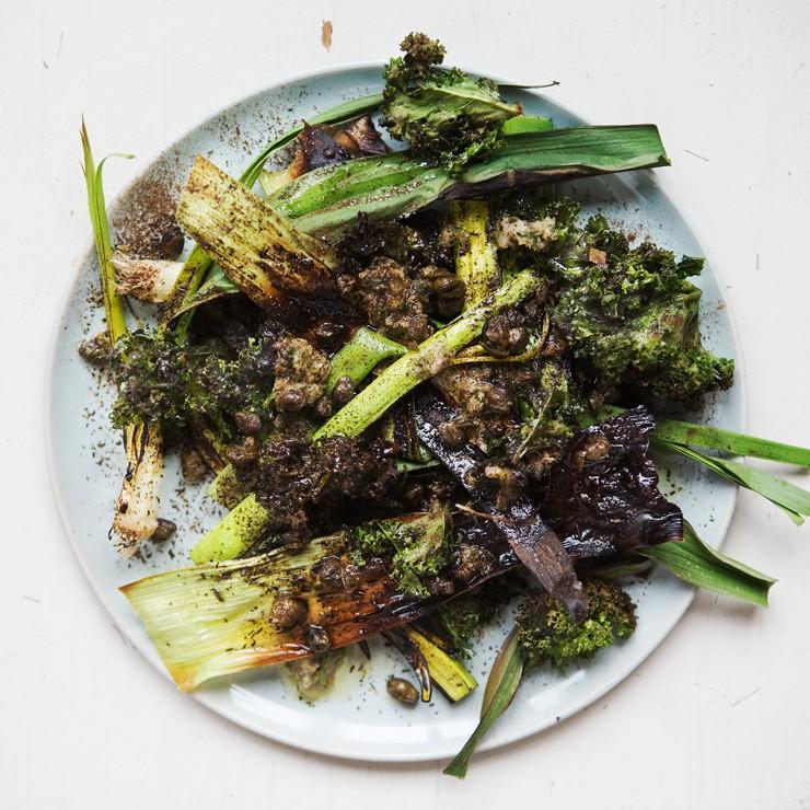 Grilled Leeks + Kale_740